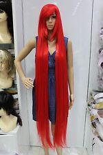 rouge Long raide animation Cosplay fête plein cheveux perruques 150cm