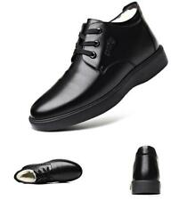 Mens Black High Top Ankle Boots Shoes Work Business Fur Inside Warm Chukka New L