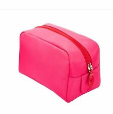 Macy's Pink Red Cosmetic Makeup Handbag Clutch Pouch Vanity Bag Case NWT NEW NEW