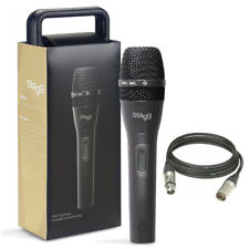 Stagg SDM80 Pro Vocal + Instrumental Microphone + Mic Case + Lead + 2Yr Warranty