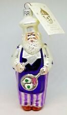 Patricia Breen Blown Glass Christmas Holiday Ornament Santa Green Egg Ham Purple