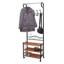 Metall-Garderobe Oshawa, Standgarderobe Kleiderstange, 186x65x34cm