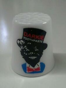 Up4Bid Darkie's Toothpaste Collectible Porcelain Thimble