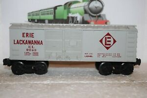 O Scale Trains Lionel Erie Lackawanna Box Car 9043