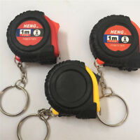 Mini Tape Measure With Key Chain Plastic Portable 1m Retractable Ruler In E JF