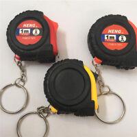 Mini Tape Measure With Key Chain Plastic Portable 1m Retractable Ruler SP