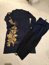 Limelight Medium Winter Cotton Embroidered Kurta With Shawl -