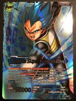 Carte Dragon Ball Super Card Game VEGETA SUPER SAIYAN BLEU BT1-028 R DBZ FR NEUF