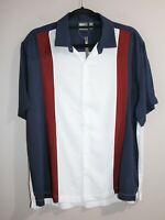 ASOS Brand Men's Navy Colour Block Short Sleeve Shirt Size M BNWT #SM99