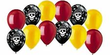 12 pc Pirate Party Inspired Latex Balloon Party Decoration Birthday Boy Gold Red