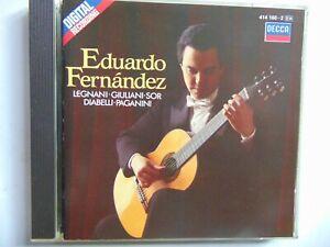 Eduardo Fernandez - Legnani - Guillani - Sor - Diabelli - CD - FREE POST