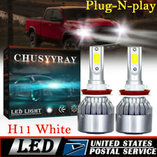 NEW H11 HID 6000K 144W COB LED Fog/Driving&Headlight For Dodge Ram 2013-2018
