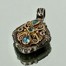 Konstantino Sterling Silver and Topaz Pendant