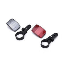 Handlebar Mount Safe Reflector Bicycle Bike Front Rear Warning Red+White Best  R