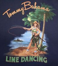 Tommy Bahama Size Large Blue Line Dancing Tshirt Mens Shirts