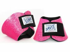 Davis Horse Boots No Turn Bell Hoof Over Reach Jumping Pink Glitter Pony/Small