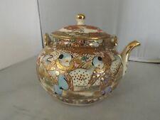 Antique Japanese Kutani Gilded Teapot