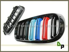M Style Gloss Black M Tri Color Front Hood Grill Grille For BMW F15 X5 2014-2016
