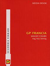 Scuderia Ferrari F1 Media Book - French Grand Prix 2004 Driver Stats & Bios