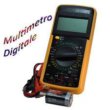 Multimetro Tester Digitale Professionale DT9205A Cavi