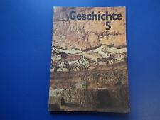 Geschichte  Klasse 5 Lehrbuch /Schulbuch DDR 1988 Softcover guter Zustand gebr.