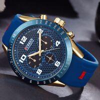 Bussiness Herrenuhr Armbanduhr Analog Quarz Uhr Sportuhr Uhren Leder Watch Bügel