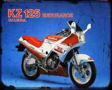 Gilera Kz 125 2 A4 Metal Sign Motorbike Vintage Aged