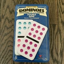 Cardinal Industries Classic Games Double Nine 9 Color Dot DOMINOES Tin Set of 55