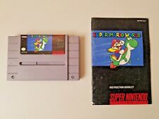 Super Mario World with Instruction Manual - Tested - SNES Super Nintendo