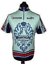 Biemme Bianchi France 2001 Michelin Cycling Jersey Short Sleeve Shirt RARE M