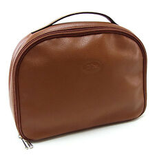 Longchamp Handbag Brown Silver Woman Authentic Used Y2107