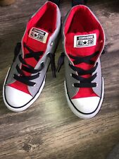 Convers All Star 647680F Gray Black Red And White