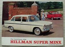 HILLMAN SUPER MINX Car Sales Brochure 1965 #1081H