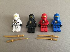 LEGO Ninjago All 4 Ninjas Kai Cole Jay Zane Original Versions w/ Weapons