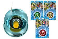 Metallic Metal Yo-Yo Party Kids Play Gift Fun Trick Toy Ball Bearing Clutch Spin