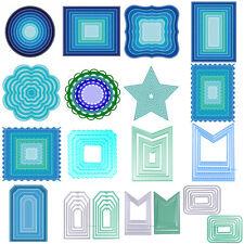 Metal Geometry Cutting Dies Stencil Scrapbooking Embossing Paper DIY Card Decor