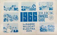 .1966 USA BUICK OWNERS GUIDE BOOKLET. LeSABRE / WILDCAT / ELECTRA 225.