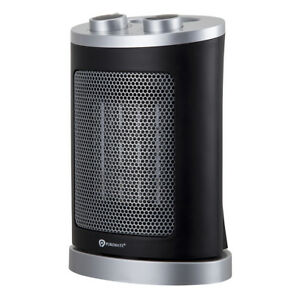 PureMate 1500W Ceramic Fan Heater with Oscillation & 2 Heat Low/High Settings