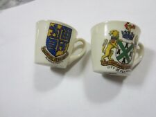 New listing Vintage miniature Crested China Tea Cups W H Goss England Bournemouth Plymouth