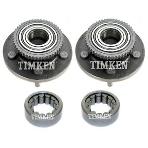 Front and Rear Wheel Bearings & Hubs Kit Timken For Crown Victoria Town Car RWD
