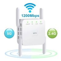 1200Mbps WiFi Extender Signal Range Booster Wireless Dual Band 2.4G/5G Repeater