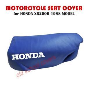 Motorrad Sitzbezug Passend Für XR200R XR 200 R 1988 IN Blau