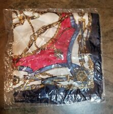Square Head Neck Scarf Wraps Printed Kerchief Blue Red Yellow Beige