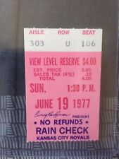 1977 KANSAS CITY ROYALS vs MINNESOTA TWINS Ticket stub / Jun 19 KC wins 8-7