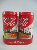 Coca-Cola Tin Salt and Pepper Set Drink Coca-Cola in Bottles