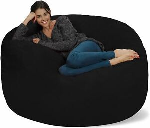 Chill Sack Bean Bag Chair: Giant 5' Memory Foam Furniture Bean Bag - Big Sofa wi
