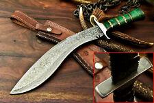 Rare!!! Custom Hand made Damascus Kukri Hunting Knife   Fantastic Hard Wood