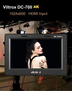 "Viltrox DC-70II 7"" DSLR Camera Field Monitor LCD Display 4K HDMI Video Monitor"