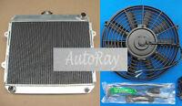 """FOR TOYOTA HILUX RN85 YN85 22R 2.4L Petrol 3 ROW Aluminum Radiator & 16"""" Fan MT"""