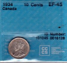 1934 CANADA 10 CENTS - CCCS-EF-45